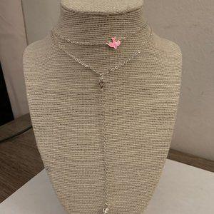 silver dove layer brandy melville choker necklace